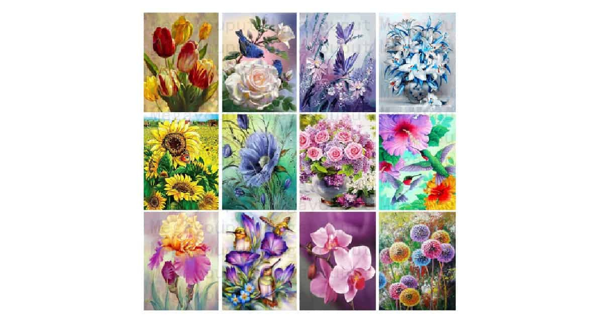 AliExpress diamond painting bloemen