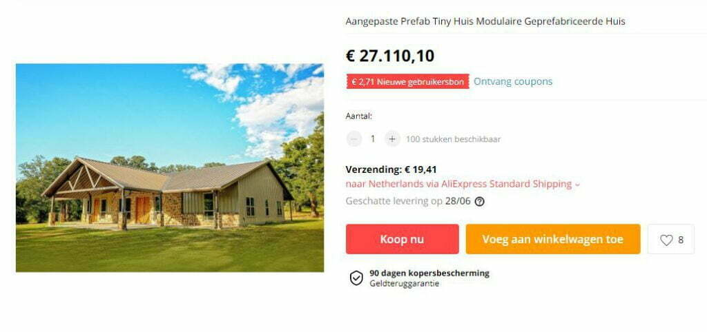 Prefab house AliExpress